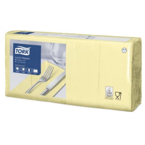 Tork lunchservet 33x33cm 2-laags 1/8-vouw champagne 10x200