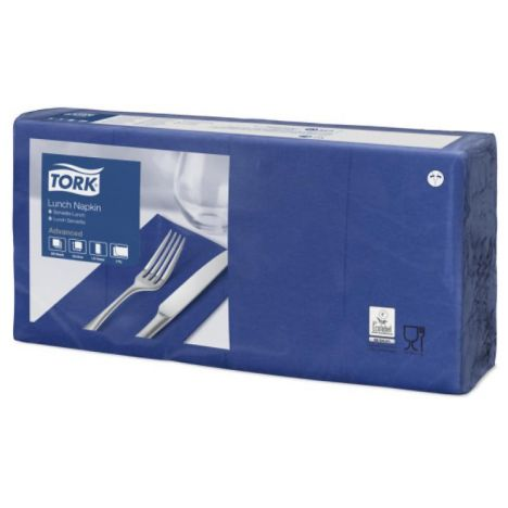 Tork lunchservet 33x33cm 2-laags 1/8-vouw midnight blue 10x200