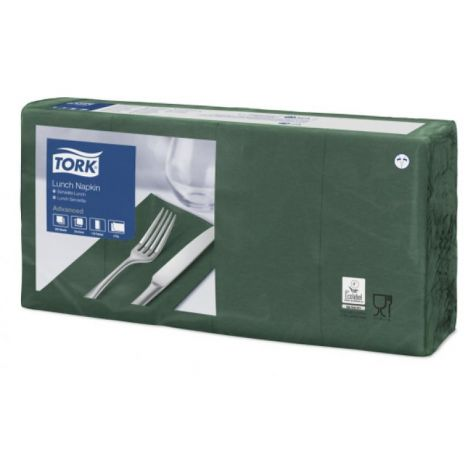 Tork lunchservet 33x33cm 2-laags 1/8-vouw mountain pine green 10x200